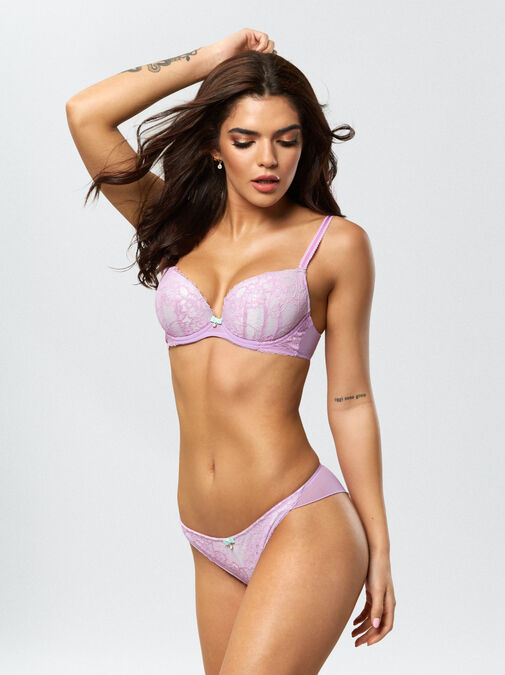 Ann Summers Sexy Lace Push Up Plunge Bra - 32f - lilac - Lingerie for Women
