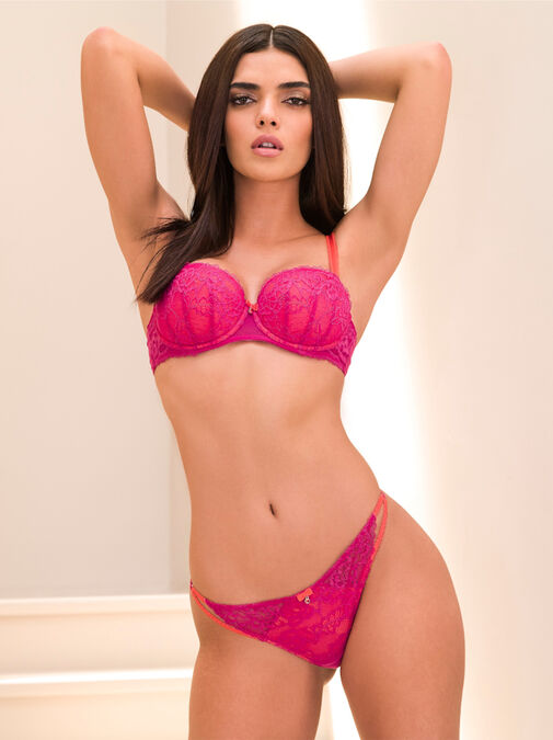 Ann Summers Sexy Lace Balcony Bra - 36g - pink - Lingerie for Women