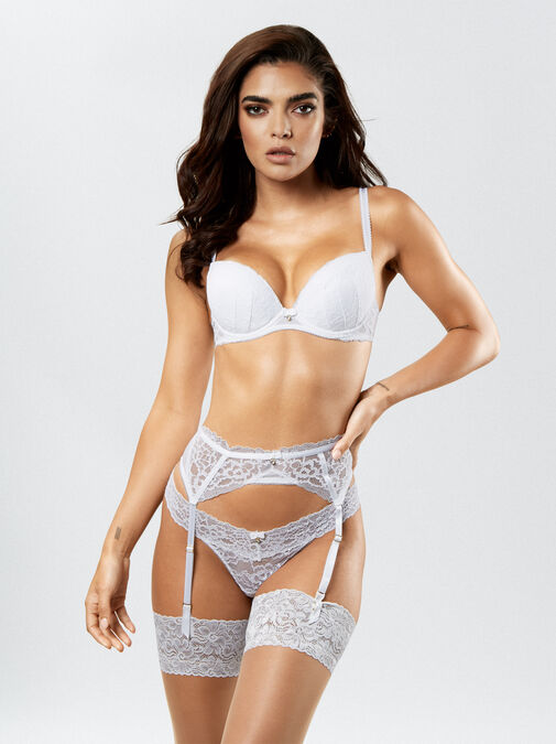 Ann Summers Sexy Lace Push Up Plunge Bra - 36f - white - Lingerie for Women