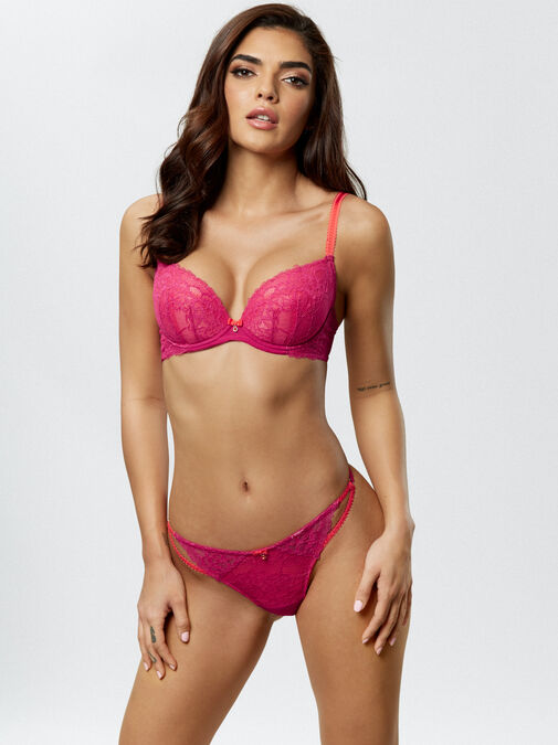 Ann Summers Sexy Lace Push Up Plunge Bra - 34g - pink - Lingerie for Women
