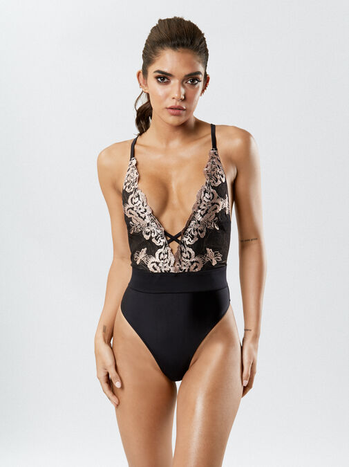 Ann Summers Sultry Evening Swimsuit - 10 - black - Swimwear, Bikinis & more