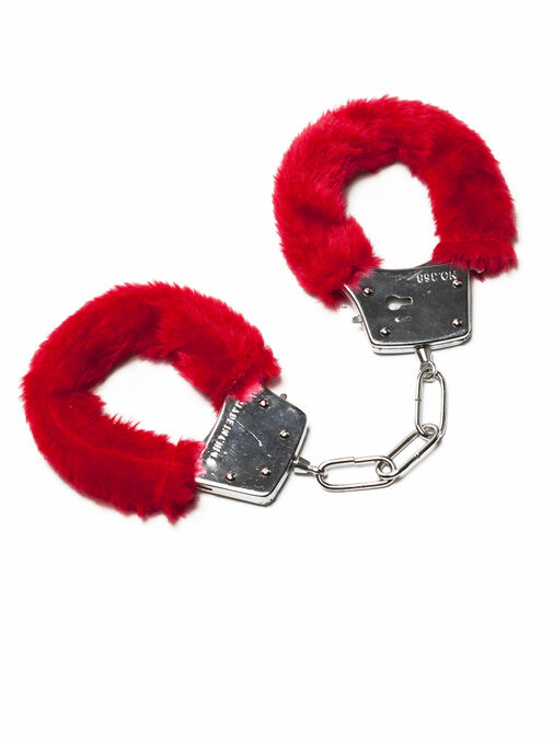 Ann Summers Red Faux Fur Handcuffs - Bondage Toys & more