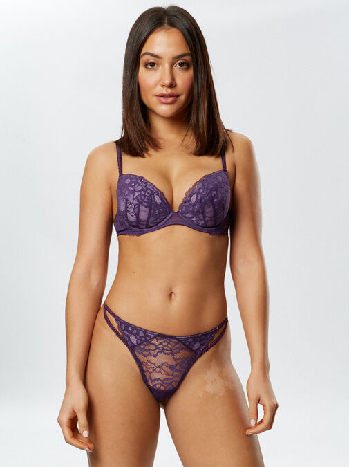 Ann Summers Sexy Lace Plunge Bra - 30h - purple - Lingerie for Women