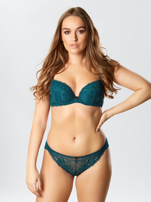 Ann Summers Sexy Lace Plunge Bra - 30h - teal - Lingerie for Women