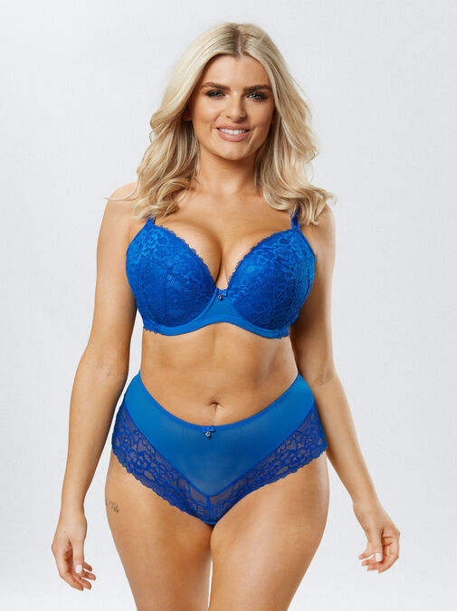 Ann Summers Sexy Lace Push Up Plunge Bra - 32g - blue - Lingerie for Women