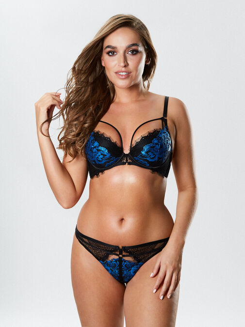 Ann Summers Sultry Evening Plunge Bra - 32a - black - Lingerie for Women