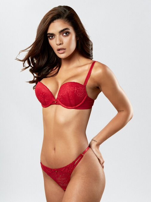 Ann Summers Sexy Lace Push Up Extreme Boost Bra - 38dd - red - Lingerie for Women
