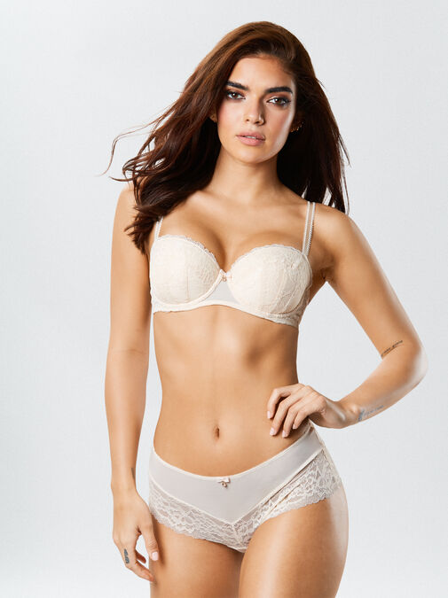 Ann Summers Sexy Lace Balcony Bra - 38f - nude/blush - Lingerie for Women