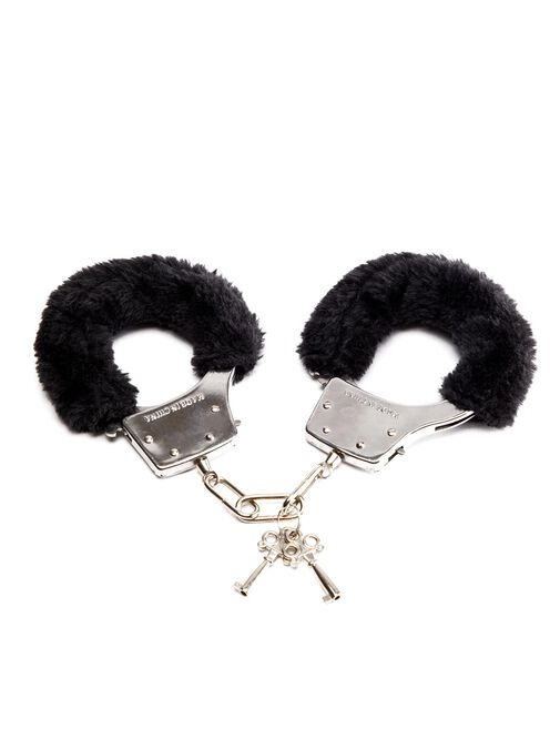 Ann Summers Black Faux Fur Handcuffs - Bondage Toys & more
