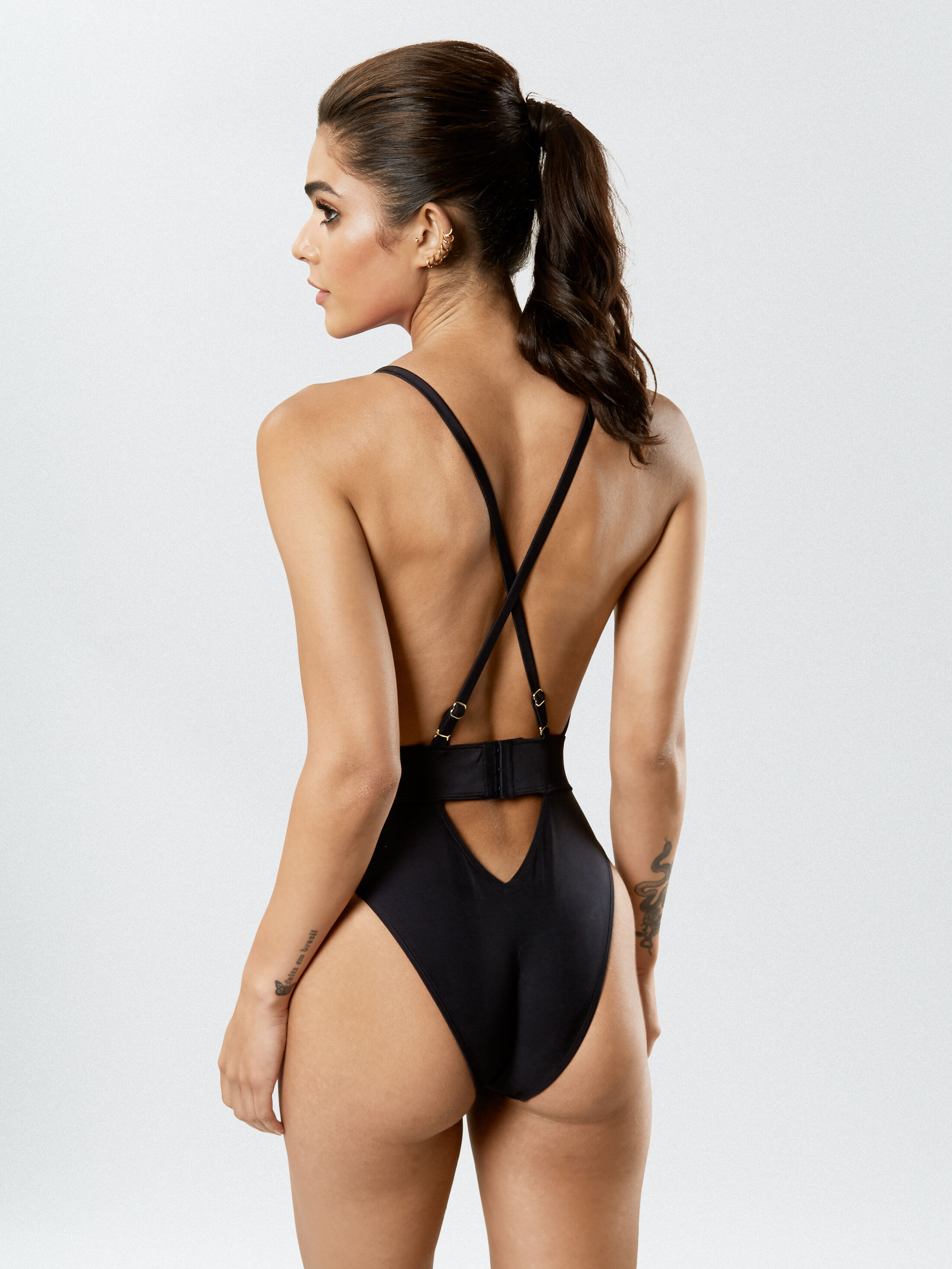 Ann Summers Sultry Evening Brief Black //Rose Gold BNWT Size 8-18